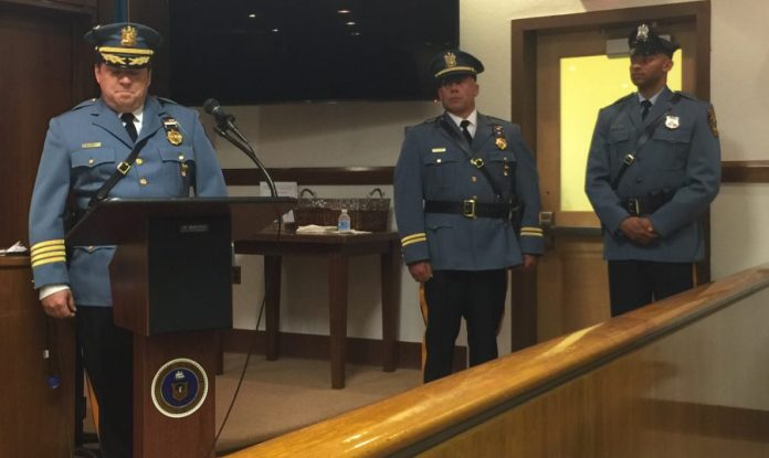 An Emotional Swearing-In for Lawrence Police Officers