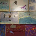 birds-in-flight-in-olivia-rainbow-gallery-heather-barros-student-art-at-dr-greenway-20161208_145230