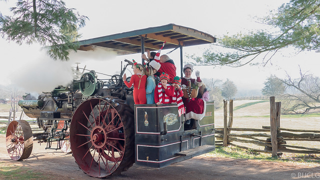 Santa to Join Howell Farm's Annual Christmas on the Farm in a Steam Engine
