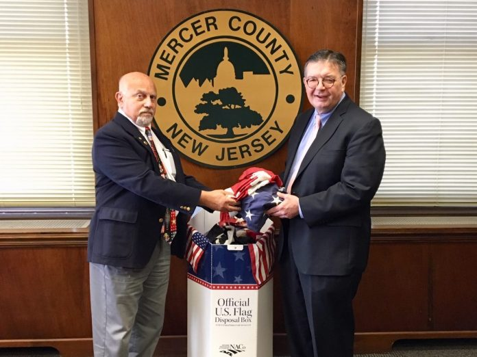 Mercer Collects Worn US Flags for Retirement Year-Round