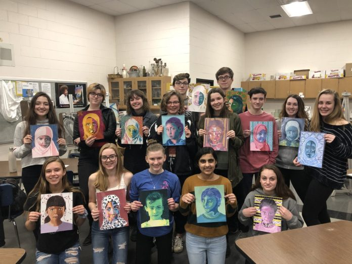 Activism in the HVCHS Art Room with the Memory Project (PHOTOS)