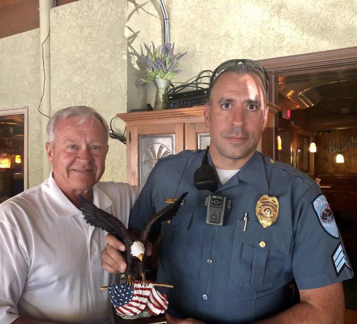HV Veterans Award Township Sergeant for Volunteerism