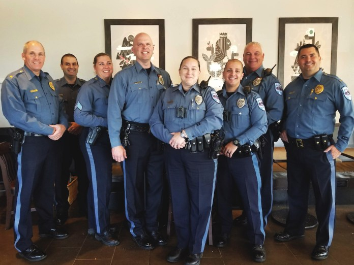 Cops join community for a cup o' joe