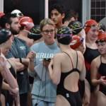 Coach Ashman girls 400 relay vs Lawrence
