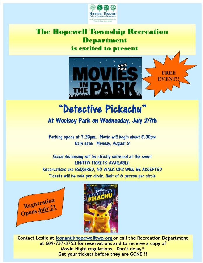 Outdoor movies come to Woolsey Park