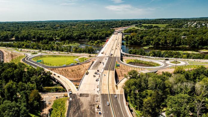 Scudder Falls Bridge reopens ramps, new span to open Wednesday