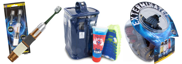 Doctor Who Tardis Bathroom Gift Set  Merchandise Guide  The Doctor Who Site