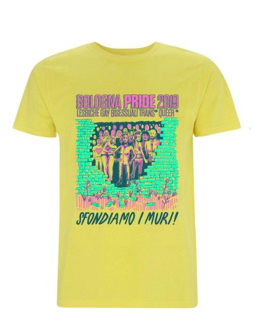 Bologna Pride 2019 Limite Edition Tee Color Yellow