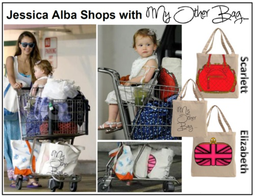 Jessica Alba Loves to Shop with My Other Bag! Buy at ShopManhattanite.com Now!