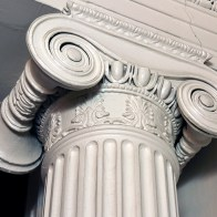 Column Capital in Front Parlor
