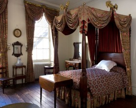 Period room in 19th century house museum