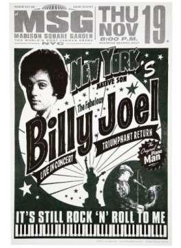 billy joel poster 11 19 15 new york city ny