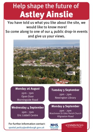 The Future of Astley Ainslie: Four Consultation Events