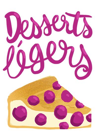 desserts légers