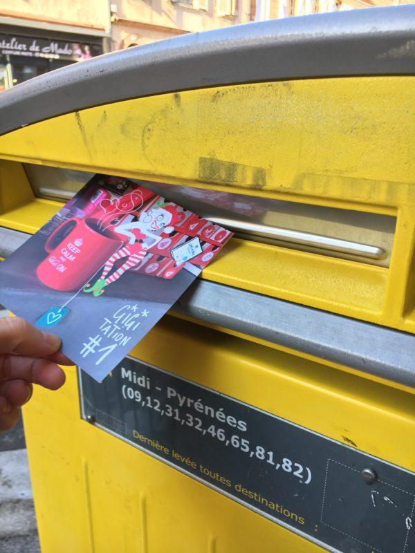 gigitation en cartes postales