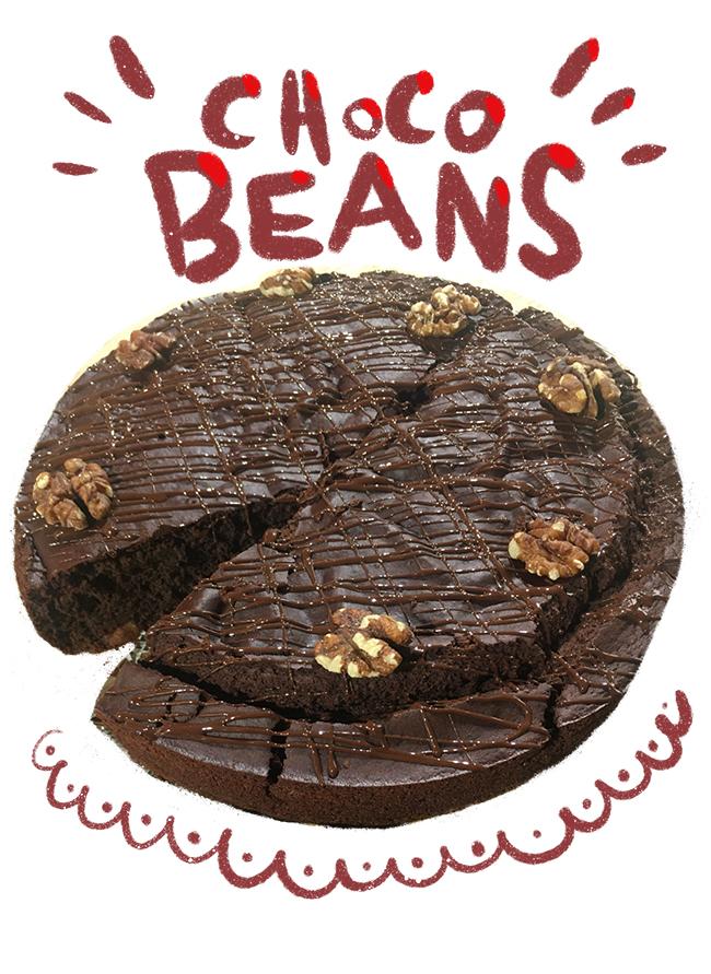 recette choco beans sans gluten avec des haricots rouges