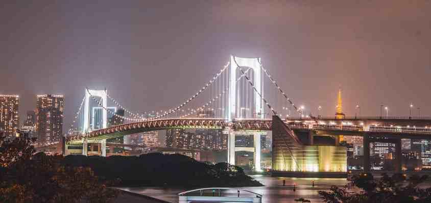 Rainbow Bridge : le pont suspendu au dessus de la baie de Tokyo