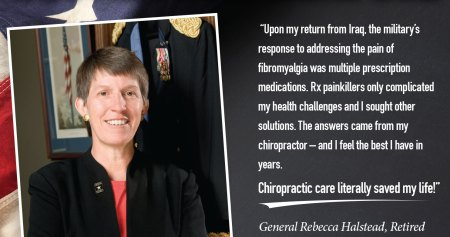 General Rebecca Halstead fighting pain with chiro