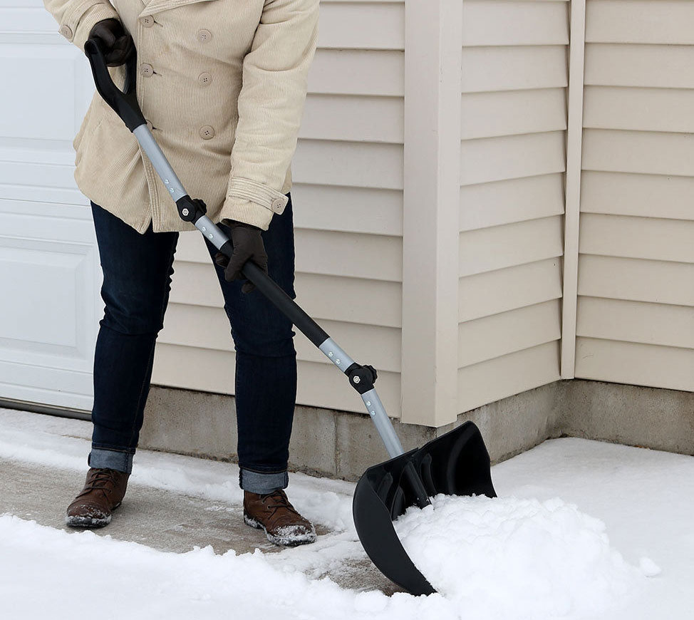 adjustable ergonomic snow shovel
