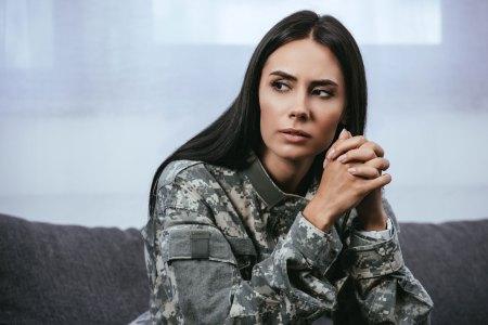female military veteran suffering from PTSD