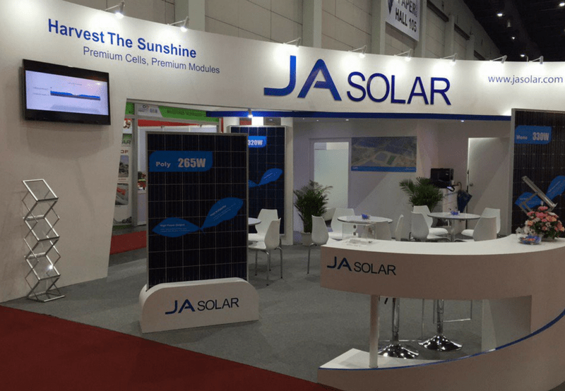 JA Solar India Module Shipments in 2017