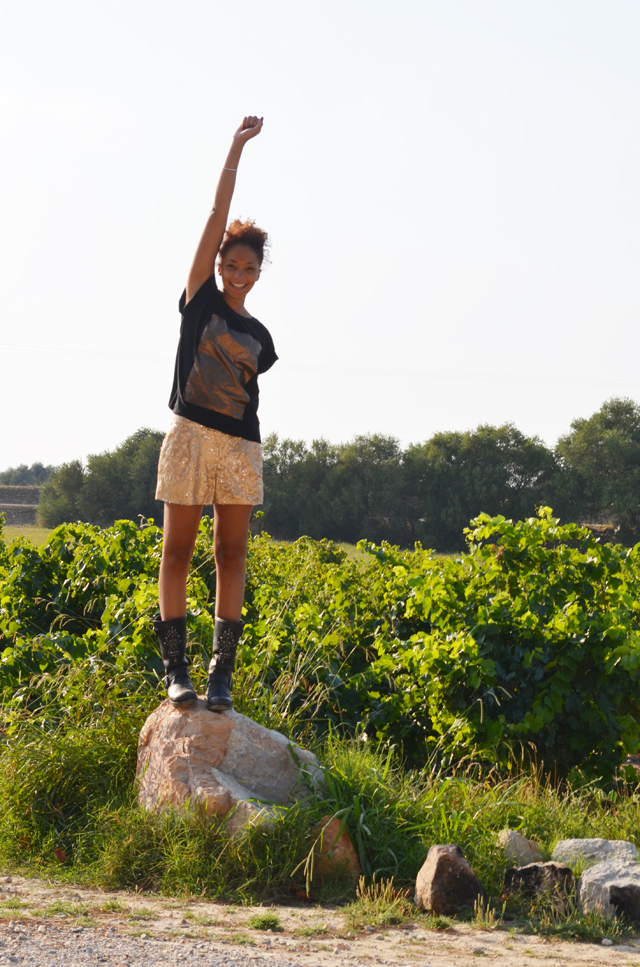 mercredie-blog-mode-perpignan-asos-vignes-short-sequins-warehouse-rocher-bottes-koah-birsen