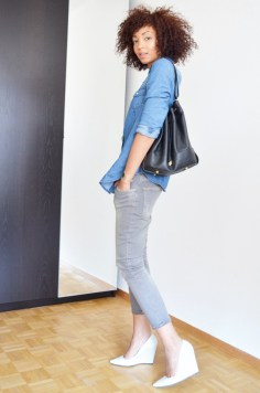 mercredie-blog-mode-geneve-switzerland-fashion-blogger-zara-escarpins-blanc-wedges-compenses-sac-sceau-apc-denim-shirt-chemise-jean-curly-hair-cheveux-nappy-afro-naturels-curls-metisse
