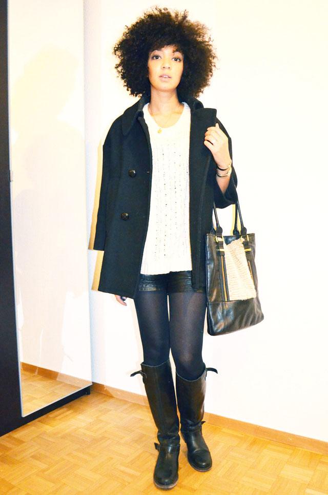 mercredie-blog-mode-short-cuir-bottes-zip-pull-topshop-ersatz-isabel-marant-afro-sac-fourrure-manteau