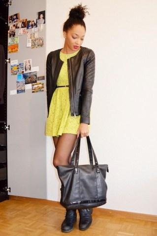 mercredie-blog-mode-zara-robe-neon-fluo-boots-koah-birsen-sac-ersatz-vanessa-bruno-blouson-cuir-bel-air