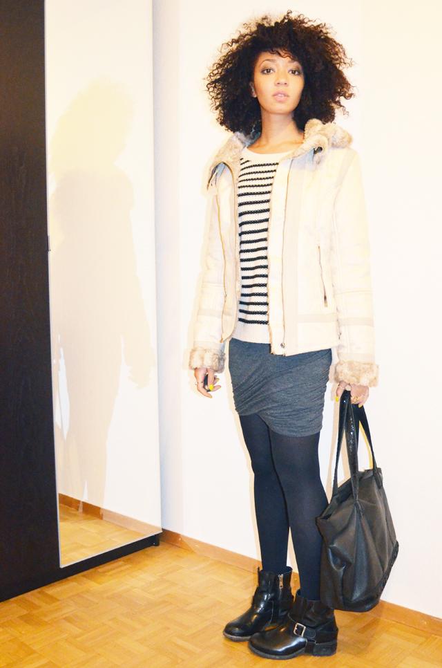 mercredie-blog-mode-boots-jules-allsaints-blouson-bershka-jupe-plissee-ebay-isabel-marant-ersatz-vanessa-bruno-afro-nappy-hair-2-mariniere
