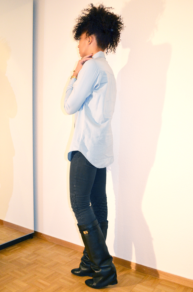 5-mercredie-blog-mode-beaute-chemise-circus-jean-denim-perles-bijoux-aldo-bague-zara-boots-bottes-givenchy-ersatz-afro-hair-mohawk-4
