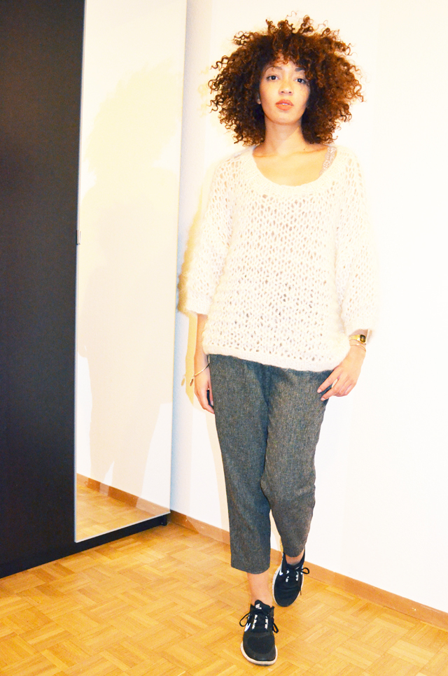 mercredie-blog-mode-beaute-geneve-suisse-pull-barnabe-mes-demoiselles-pantalon-carott-tweed-running-nike-free-run-3
