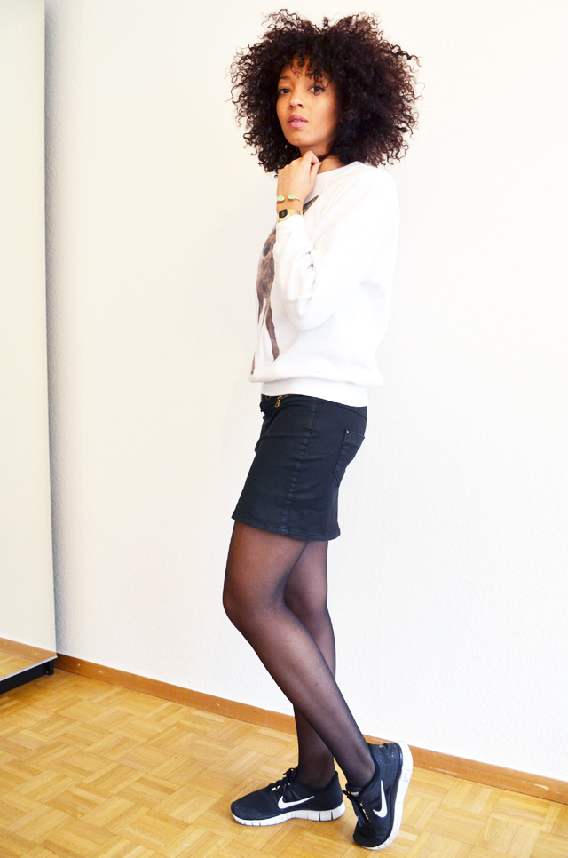 mercredie-blog-mode-beaute-suisse-geneve-sweat-bambi-topshop-emma-cook-jupe-zip-zara-running-nike-free-run-afro-hair-cheveux