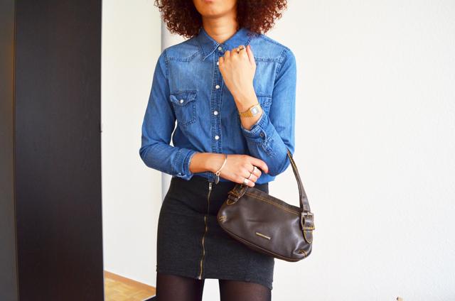 mercredie-blog-mode-suisse-geneve-fashion-blogger-denim-shirt-chemise-jennyfer-jupe-taille-haute-mango