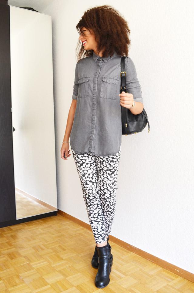 mercredie-blog-mode-grey-shirt-chemise-grise-denim-h&m-jules-heeled-allsaints-biker-boots-afro-nappy-hair-weave-curl-curls-sac-apc-cuir-seau