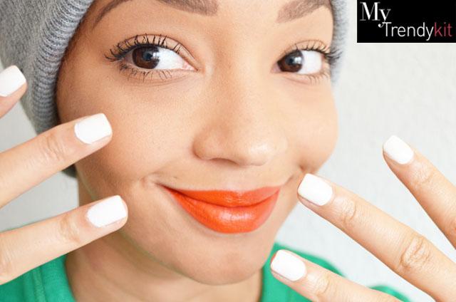 mercredie-blog-mode-beaute-ongles-manucure-semi-permanente-gel-maison-my-trendy-kit-mytrendykit-carharrt-make-up-for-ever-rouge-artist-orange2