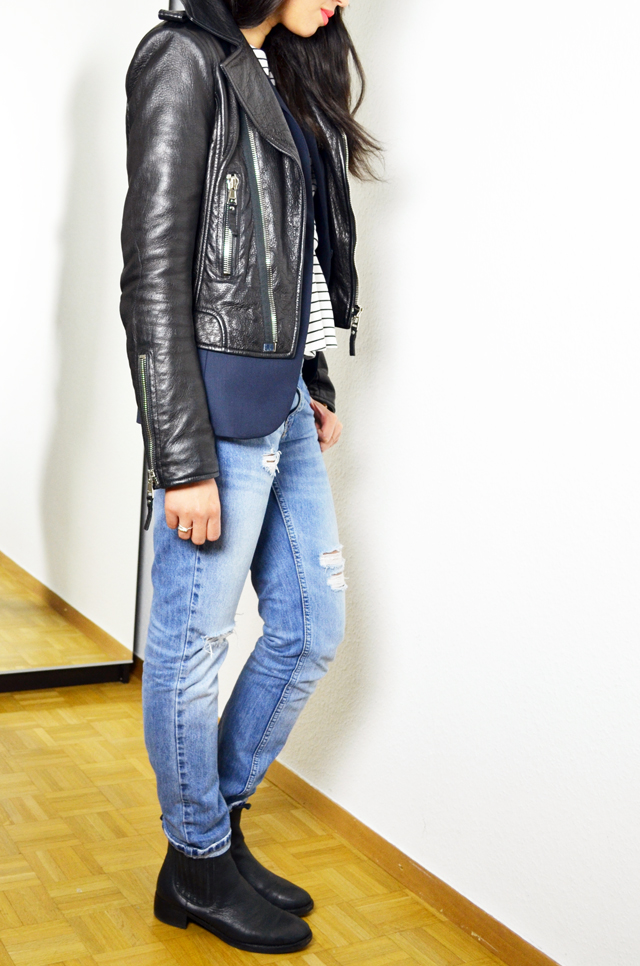 mercredie-blog-mode-suisse-geneve-asos-mariniere-boyfriend-jeans-outfit-look-chelsea-boots-pull-bear-blazer-123-balenciaga-perfecto-biker-jacket-blouson-cuir-leather