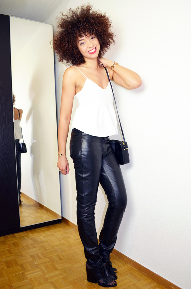 mercredie-blog-mode-suisse-geneve-outfit-cuir-tregging-pantalon-cuiropolis-carlyn-verazzano-zara-mules-afro-air-alex-bag-marc-by-marc-jacobs