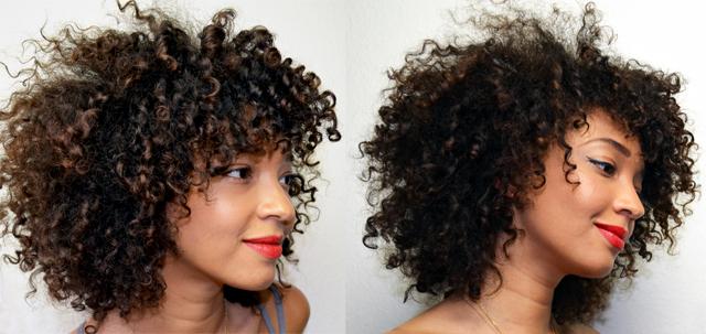 Cheveux boucles vaporeux