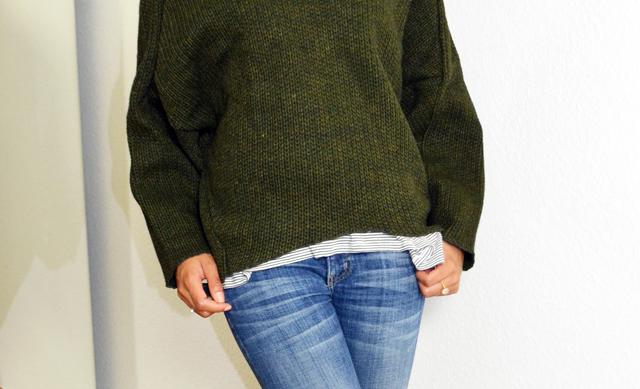 mercredie-blog-mode-pull-margaux-lonnberg-viktor-kaki-vert-jean-slim-t-shirt-marin-zara2