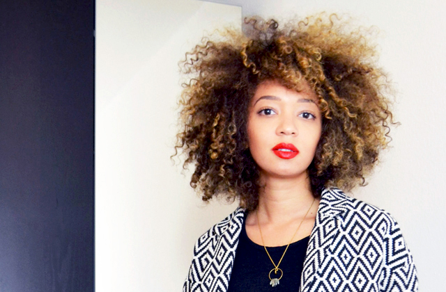 mercredie-blog-mode-beaute-skinny-tangerine-blonde-natural-afro-nappy-3c-curls-hair-cheveux-naturels-manteau-jacquard-la-redoute-nassima-adeline-affre2