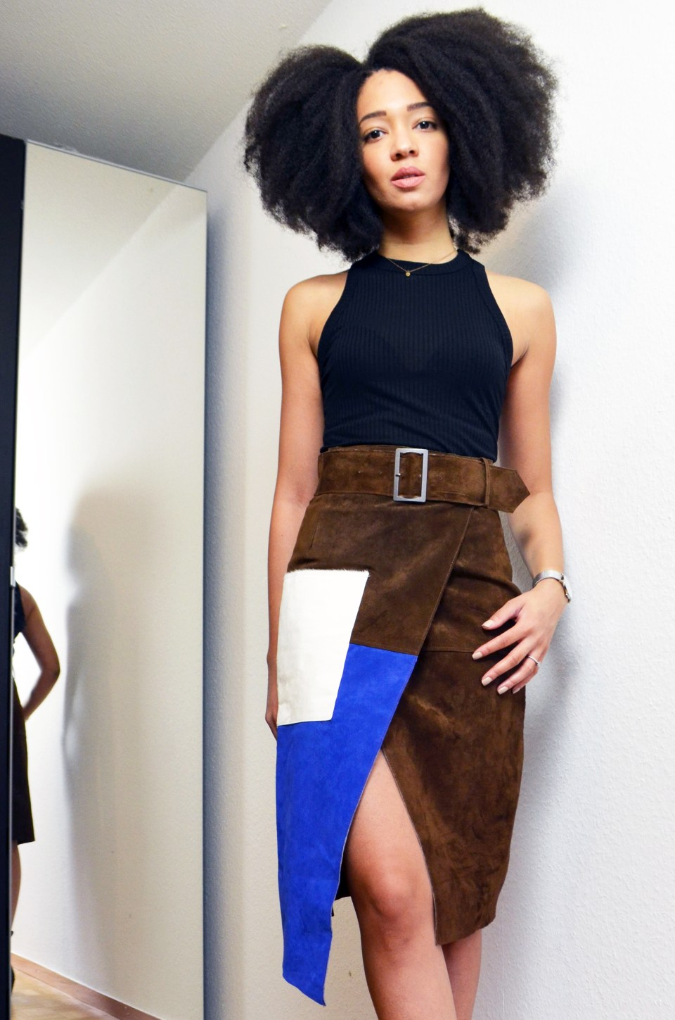 mercredie-blog-mode-geneve-jupe-asos-color-block-cuir-cuban-twist-equal-crochet-natural-afro-braid5