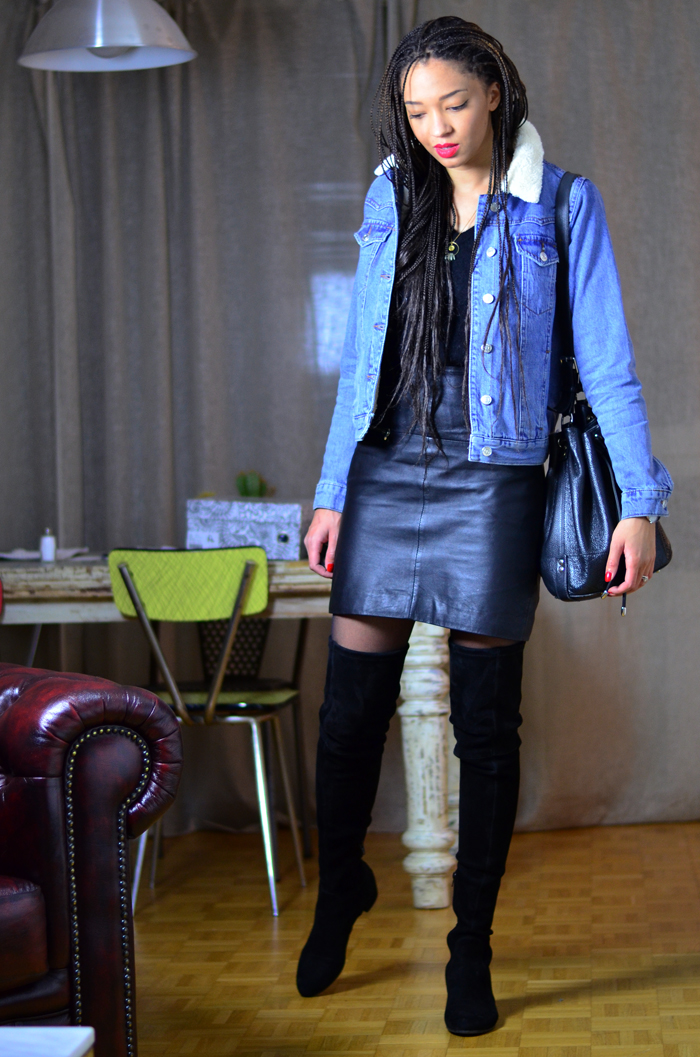 mercredie-blog-mode-geneve-suisse-veste-denim-jean-blouson-jacket-kookai-topshop-mouton-cuissardes-over-the-knee-boots-adenorah-jonak-box-braids-apc-bag2