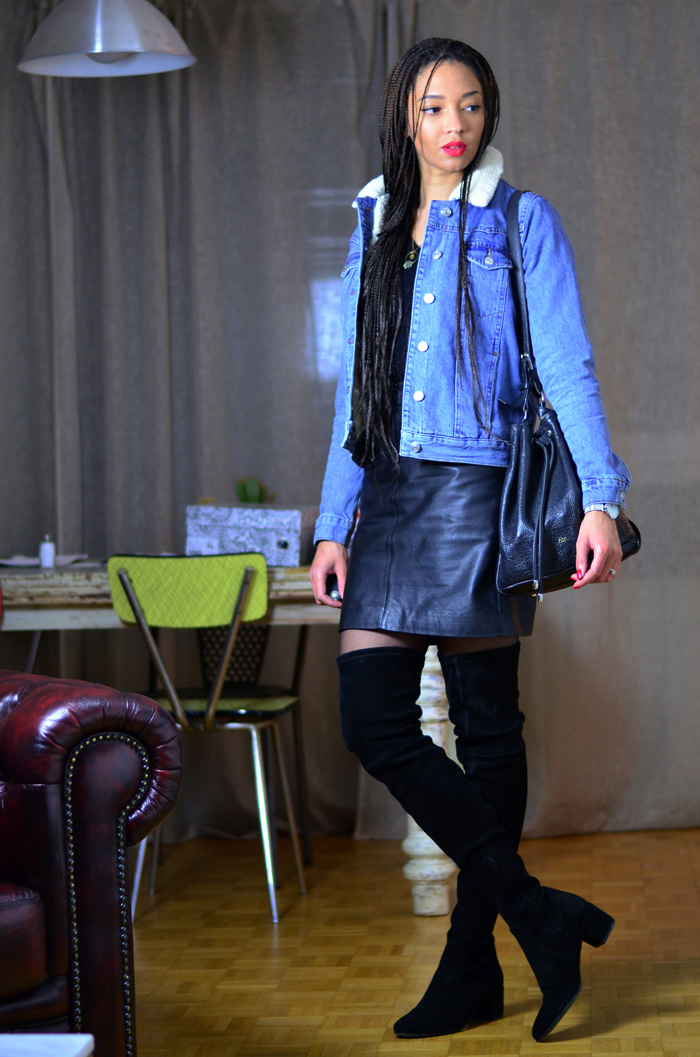 mercredie-blog-mode-geneve-suisse-veste-denim-jean-blouson-jacket-kookai-topshop-mouton-cuissardes-over-the-knee-boots-adenorah-jonak-box-braids