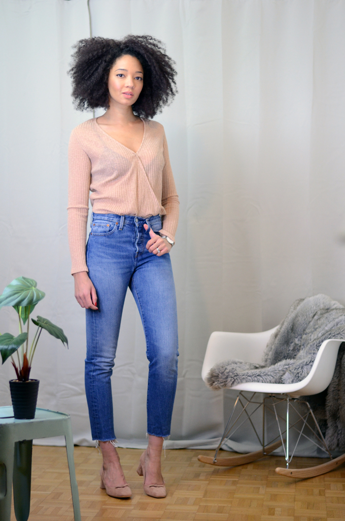 mercredie-blog-mode-zara-promod-ballerines-talons-nude-levis-wedgie-fit-jeans-cache-coeur-big-afro-natural-hair2