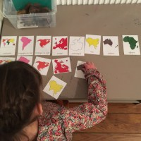Géographie: cartes de nomenclature des continents