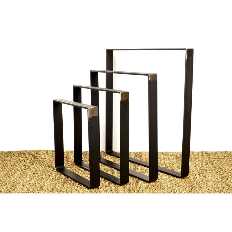 pied de table taille personnalisee en acier plat