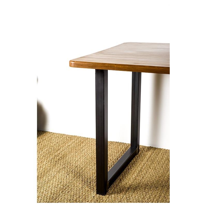 pied de table en acier pour plateau modele ulysse