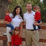 Justin Engelbach and his lovely family