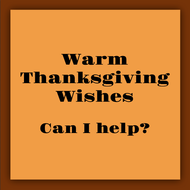 SNAP! Unhypnotizing Hypnotherapy.  Thanksgiving Wishes.